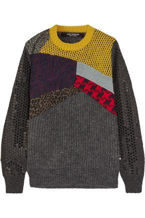 JUNYA WATANABE COMME des GARÇONS Sequin-embellished paneled wool-blend sweater