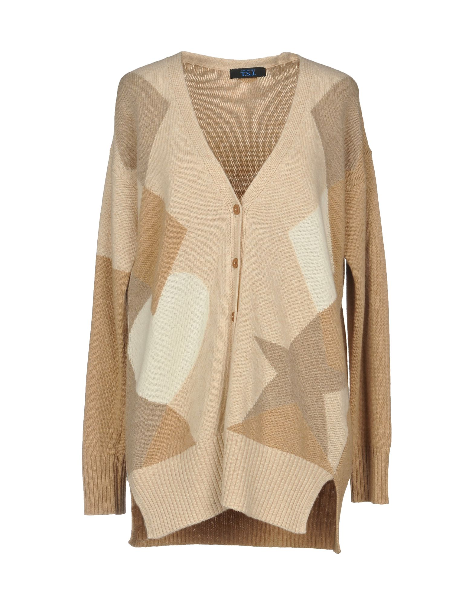 TWIN-SET JEANS Cardigan in Camel