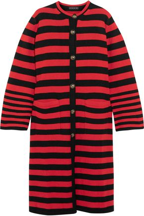 ETRO Striped intarsia-knit cardigan