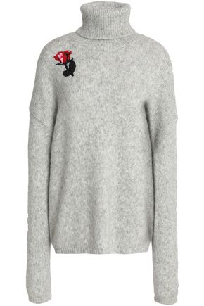 MARKUS LUPFER Embellished alpaca-blend turtleneck sweater