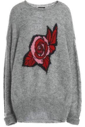 MARKUS LUPFER Intarsia mohair-blend sweater