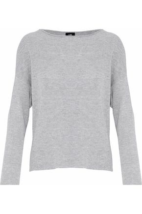 LINE Peyton ribbed mélange cotton-blend sweater