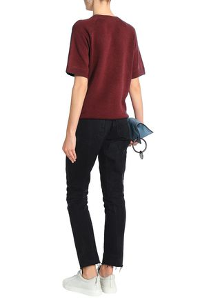 MARC JACOBS Crystal-embellished stretch-knit sweater