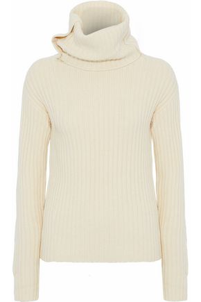 JOSEPH Ribbed wool and yak-blend turtleneck sweater
