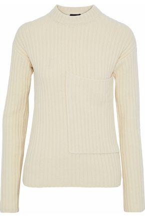 JOSEPH Ribbed wool and yak-blend sweater