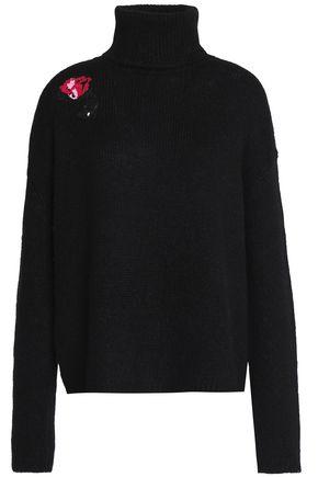 MARKUS LUPFER Erin sequin-embellished alpaca-blend turtleneck sweater