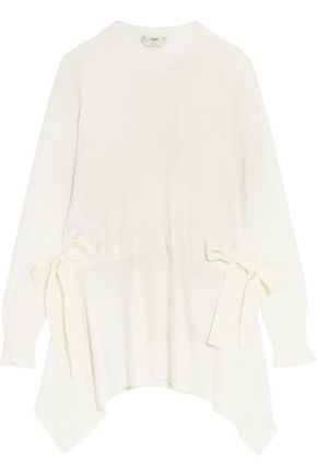 FENDI Bow-detailed cashmere top