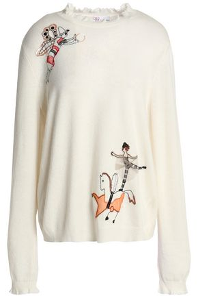 REDValentino Embellished knitted sweater