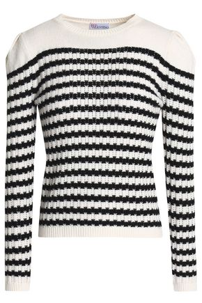 REDValentino Striped wool and cashmere-blend sweater