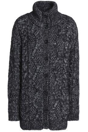 REDValentino Cable-knit wool-blend cardigan