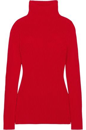 VICTORIA BECKHAM Ribbed-knit virgin wool turtleneck sweater