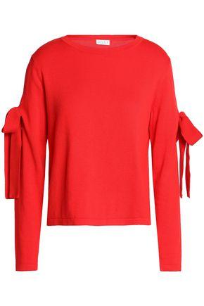 CLAUDIE PIERLOT Bow-detailed cotton-blend sweater
