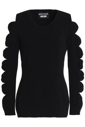 BOUTIQUE MOSCHINO Cutout stretch-knit sweater