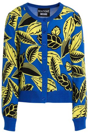 BOUTIQUE MOSCHINO Printed silk-blend cardigan