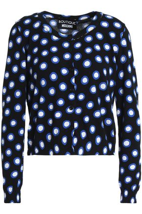 BOUTIQUE MOSCHINO Polka-dot cotton cardigan