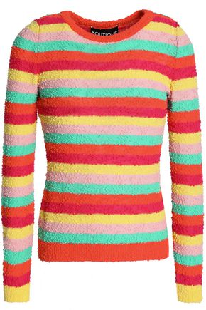 BOUTIQUE MOSCHINO Striped cotton-blend sweater