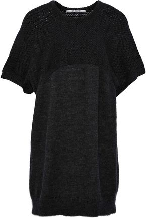 CHALAYAN Paneled open-knit sweater