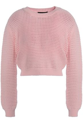 BOUTIQUE MOSCHINO Pointelle-knit wool sweater