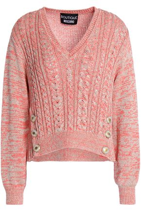 BOUTIQUE MOSCHINO Metallic cable-knit sweater