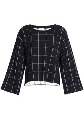 CLAUDIE PIERLOT Checked stretch-knit sweater