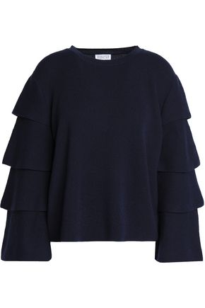 CLAUDIE PIERLOT Tiered wool and cashmere-blend sweater