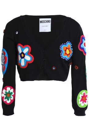 MOSCHINO Embroidered wool cardigan