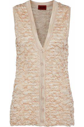 MISSONI Cloqué-knit vest