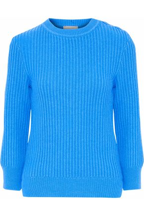 NINA RICCI Ribbed wool and cashmere-blend sweater
