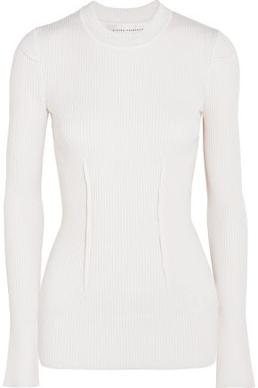 VICTORIA BECKHAM Ribbed-knit sweater