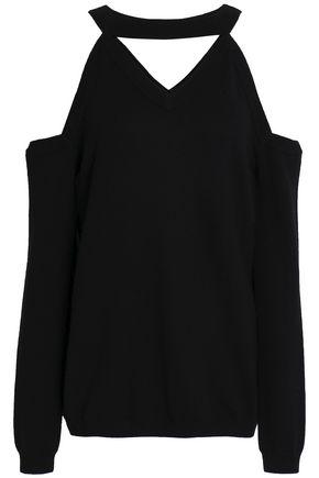 OSMAN Cold-shoulder cutout merino wool sweater