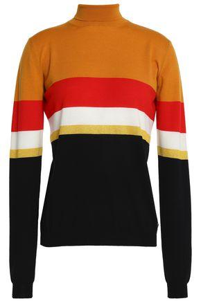 VIONNET Color-block wool turtleneck sweater