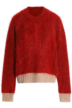 VIONNET Two-tone mohair-blend sweater
