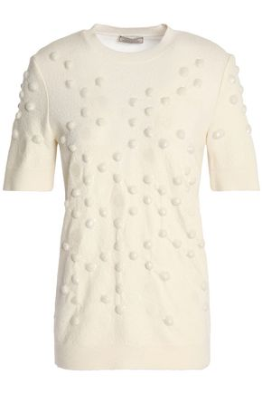 NINA RICCI Embellished wool-blend top