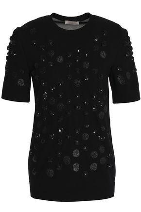 NINA RICCI Embellished wool-blend top
