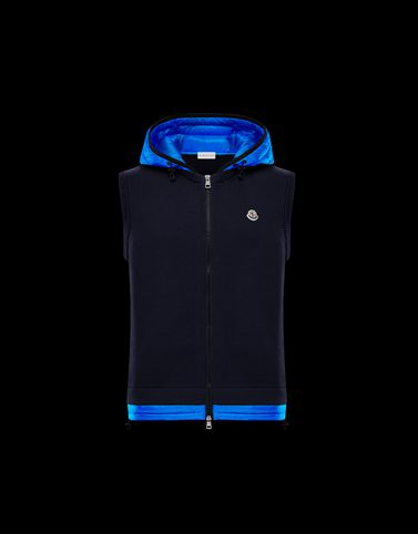 MONCLER WAISTCOAT - Lined jumpers - men