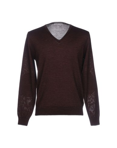 Купить Мужской свитер INDIVIDUAL красно-коричневого цвета
