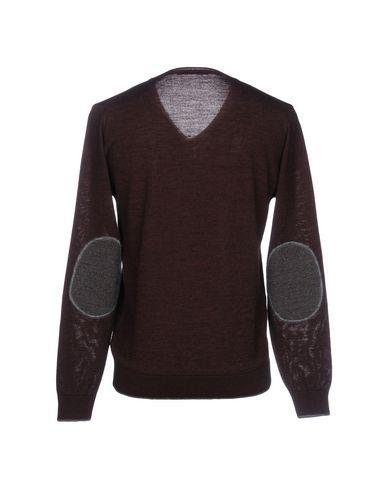 Фото 2 - Мужской свитер INDIVIDUAL красно-коричневого цвета