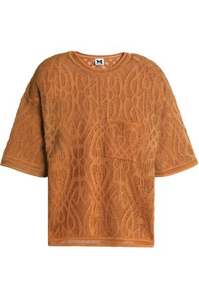 M MISSONI Crocheted cotton-blend top