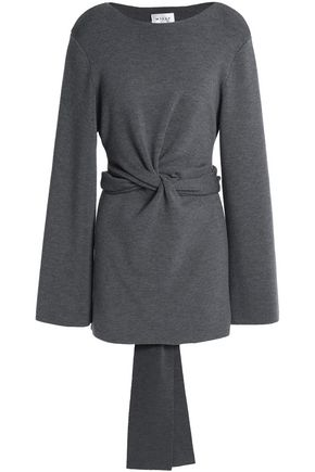 MILLY Twist-front wool-blend tunic