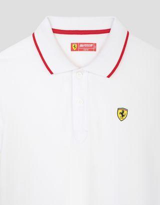 Scuderia Ferrari Online Store - Boys' polo shirt in cotton piquet - Short Sleeve Polos