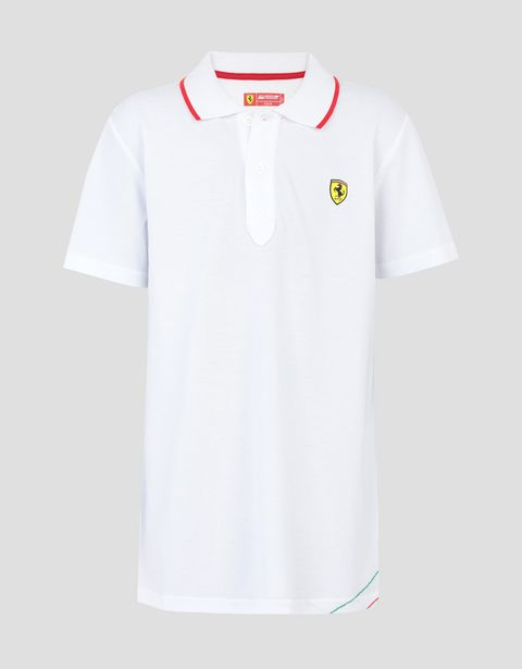 Boys' cotton piquet polo shirt