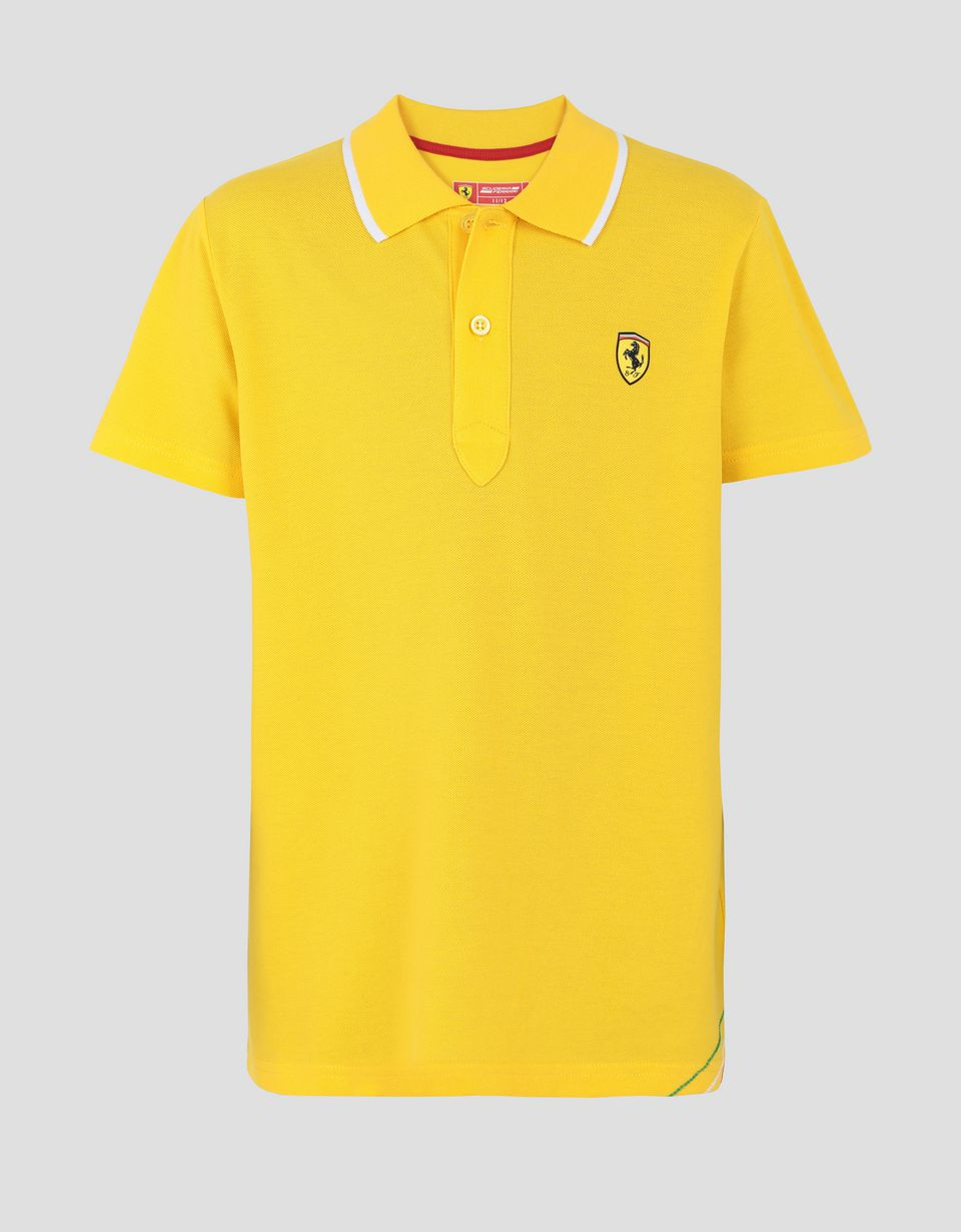 Scuderia Ferrari Online Store - Boys' polo shirt in cotton piquet -