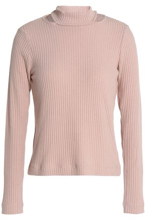 SPLENDID Sylvie cutout ribbed-knit sweater