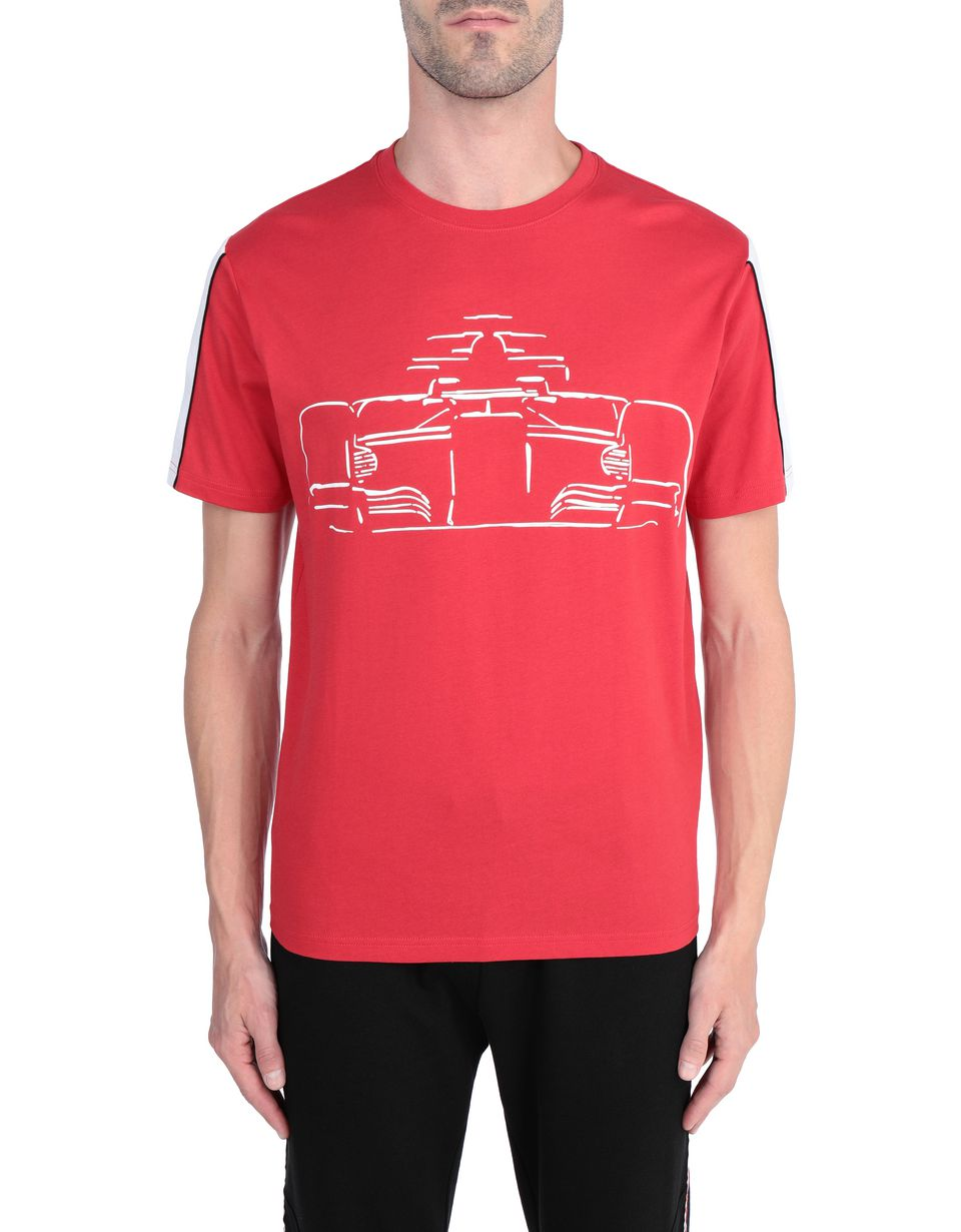 Ferrari Mens Printed Cotton T Shirt Man Scuderia Ferrari Official