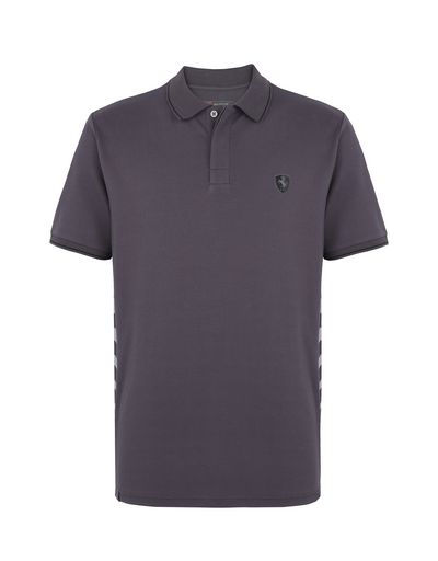 Scuderia Ferrari Online Store - Men's cotton piquet polo shirt - Short Sleeve Polos