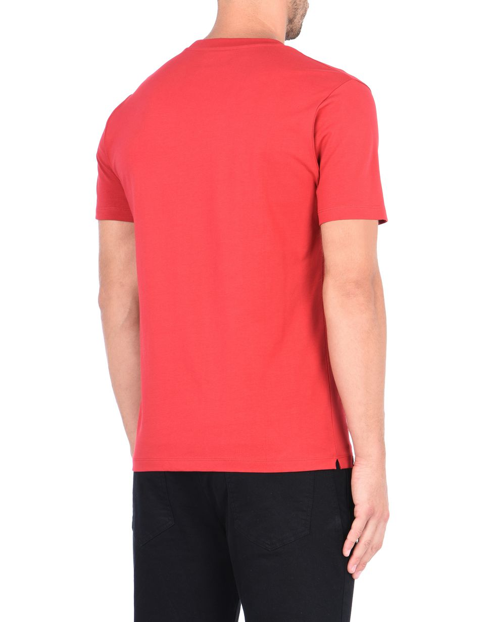 Scuderia Ferrari Online Store - Men's jersey T-shirt with rubberized print - Short Sleeve T-Shirts