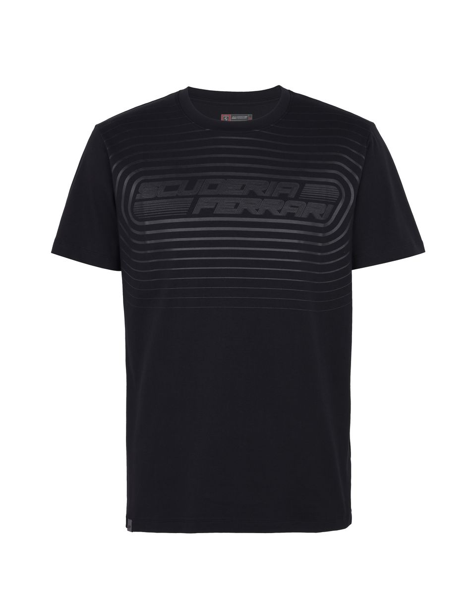 Scuderia Ferrari Online Store - Men's jersey T-shirt with rubber print - Short Sleeve T-Shirts