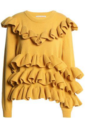 MARCO DE VINCENZO Ruffled wool sweater