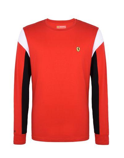 Scuderia Ferrari Online Store - Men's long-sleeved jersey sweater - Long Sleeve T-Shirts