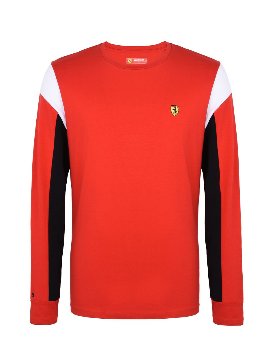 Scuderia Ferrari Online Store - Men's long-sleeved jersey sweater - Long Sleeve T-Shirts
